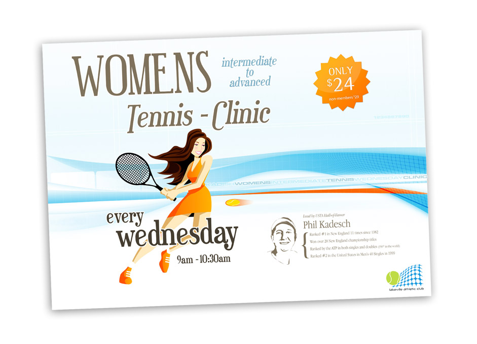 Womens tennis clinic flyer