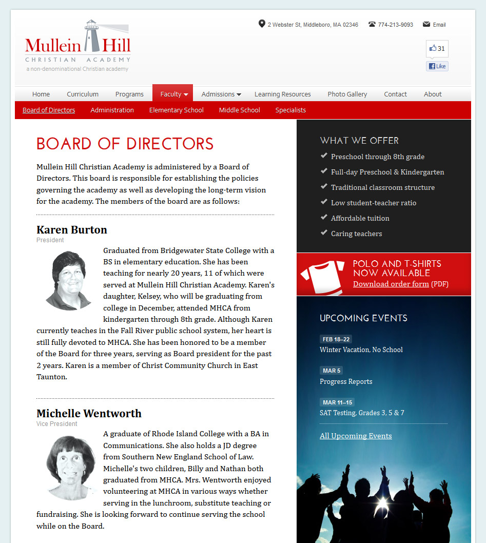 Board of Directors page